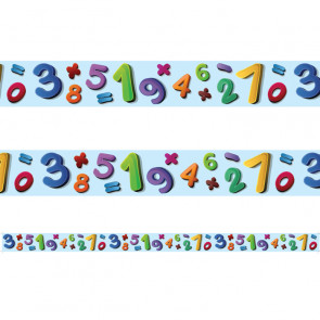 Classroom Borders | Number Jumble Borders for Class Displays