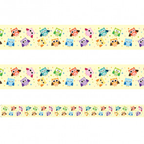 Classroom Borders | Colourful Owls - 12 metres