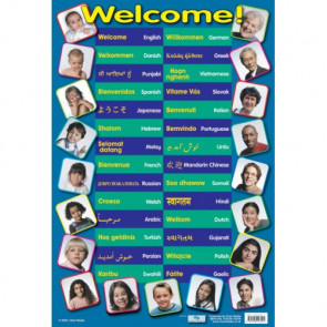 School Language Posters | Say Welcome in 26 languages!