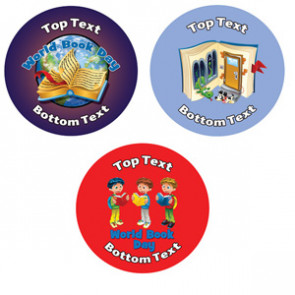 Personalised Stickers for Kids | World Book Day Designs to Customise for Teachers