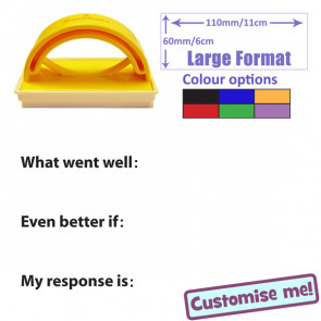Teacher Stamper | Large Format Feedback and Response Record Stamp