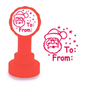 Self-inking Stamp | Christmas Label Design Teacher Marking Stamp - No ink pad required.