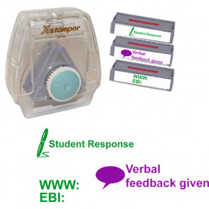 Xstamper 3-in-1 Stamp Set: EBI / WWW, Student's Response, Verbal feedback given.