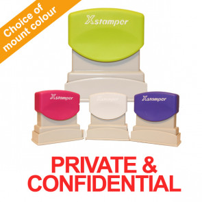 Office Stamps | Slimline Private & Confidential Pre-inked Office Stamp