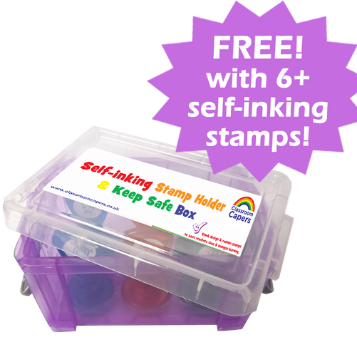 Storage Box for up to 6 self-inking School Stamps