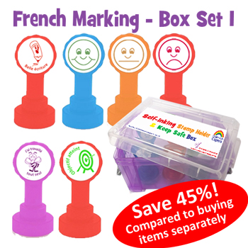 French Marking Self-inking Teacher Set 1