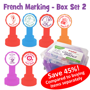 French Marking Self-inking Teacher Set 2
