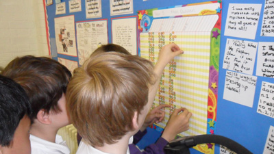 Children vote on their reward chart