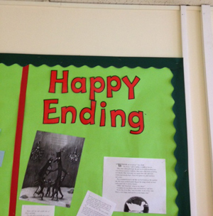 Classroom Display Letters Make a Happy Ending