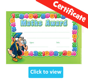 Maths Certificate Awards for Kids