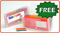 Free Sticker Organiser for Teachers