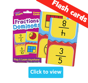 Fractions Flash Cards