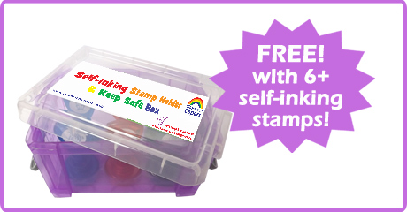 Free Self-inking School Stamp Storage Box