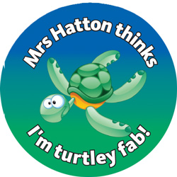 Turtle - Personalised Reward Sticker