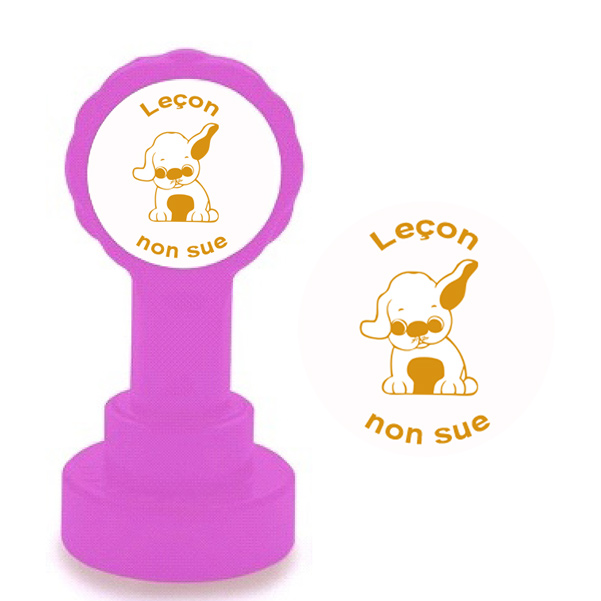 New French marking stamp -Leçon non sue