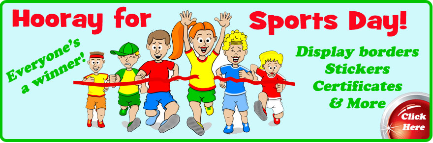 Sports Day - Stickers, Borders and Awards