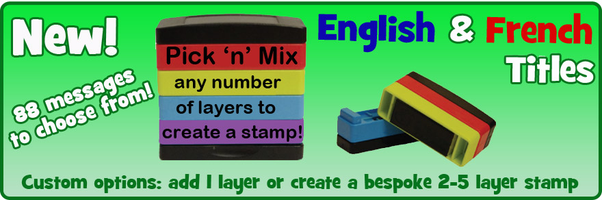 Stakz Pick 'n' Mix Layer Teacher Stamps