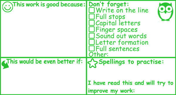 New! Key Stage 1 Literacy Marking Teacher Stamp