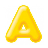 Yellow display letters for Classroom displays