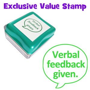 Verbal feedback given - Exclusive Cheapest on the Market, Value School Stamps