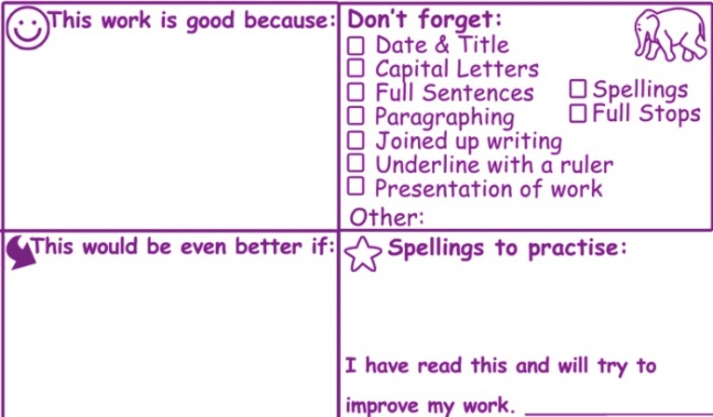Literacy Marking Large Teacher Stamp