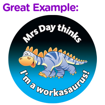 Dinosaur design custom sticker - great example