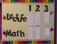 Teacher Example - Maths Display