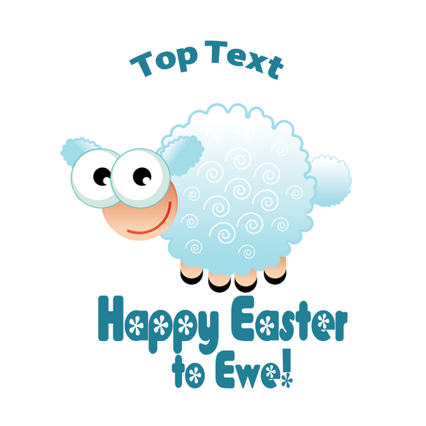 Custom stickers - Happy Easter to Ewe designs