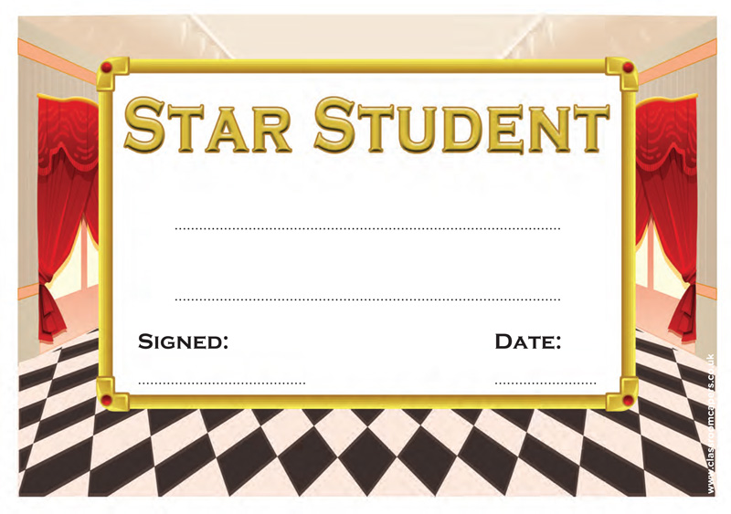 Star Student School Certificate - Theatre Design (ideal for Drama Lessons