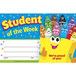 Student of the Week Trend Certificate
