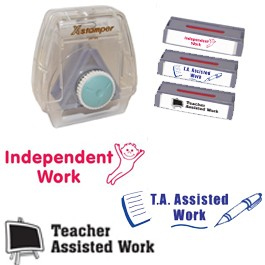 Xstamper3-in-1 Pre-filled set:  TA Assisted, Teacher Assisted, Independent Work.