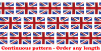 Union Jack Flag roll borders