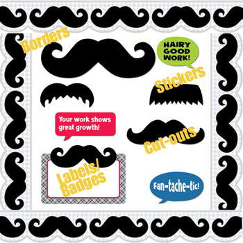 Mustache Mania Teacher Resources!