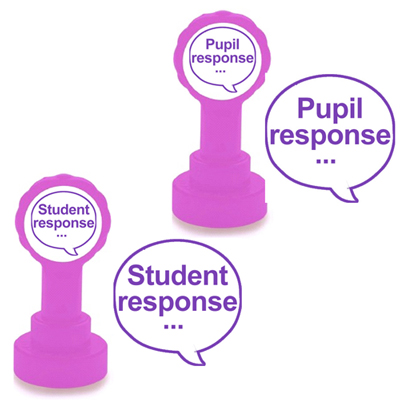 Pupil response and Student response teacher stamps - for use with Verbal feedback strategies