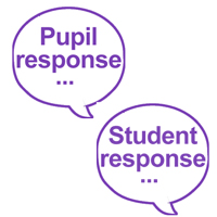 Pupil response and Student response teacher stamps