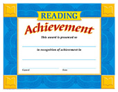 Reading Achievement School Certificate [T-11012]