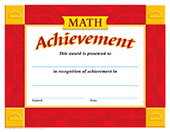 Math Achievement Certificate [T-11013]