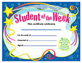 Student of the Week School Certificate [T-2960]