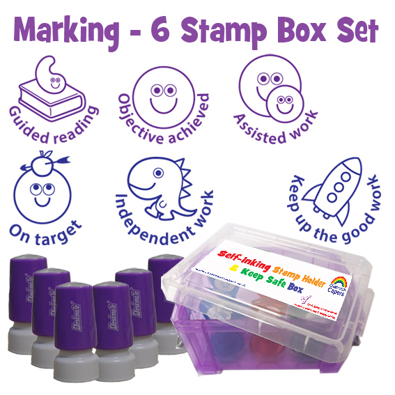 Teacher Stamp Singles Value Boxes Trays Sets