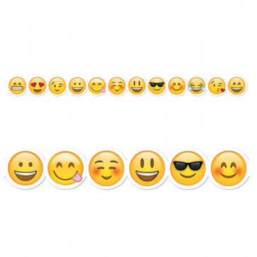 Classroom Display   Shaped Emoji Border Shaped Trimmers / Borders