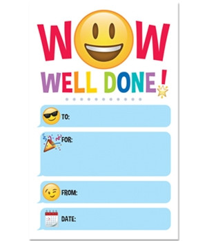 Kids Certificates | Wow, Well Done! Emoji Certificates