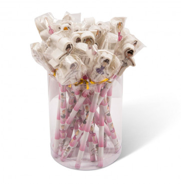 Dance Stationery | 24 Ballet Pencils with Topper Erasers