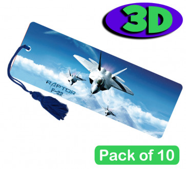3D Bookmarks | Stunning Jet Plane Design For Party Bags & Class Gifts