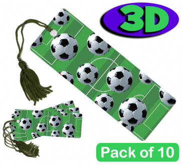 3D Bookmarks | Football Design - For Party Bags & Student Gifts / Presents