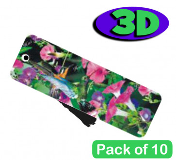 3D Bookmarks | Stunning Humming Bird Design For Party Bags & Class Gifts.