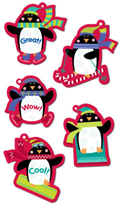 Kids Stickers | Fun Penguin Praise Design Stickers for Home and the Classroom
