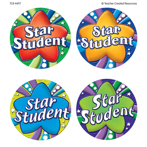 School Stickers | Large Star Student Medal Badge Stickers