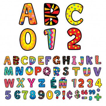 Alphabet Letter Stickers | Poppin Patterns Design Uppercase Alphabet Stickers for Crafts and Displays