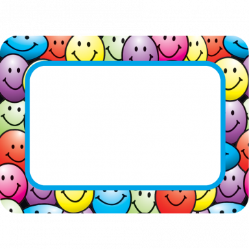 Name Labels | Colourful Smiley Name Tags / Labels