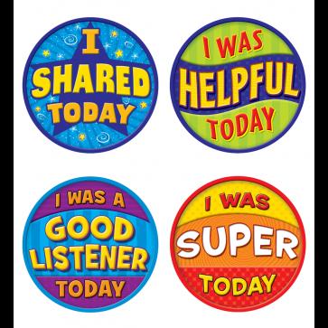 School Stickers | Good Behaviour Wear'Em Sticker Badges